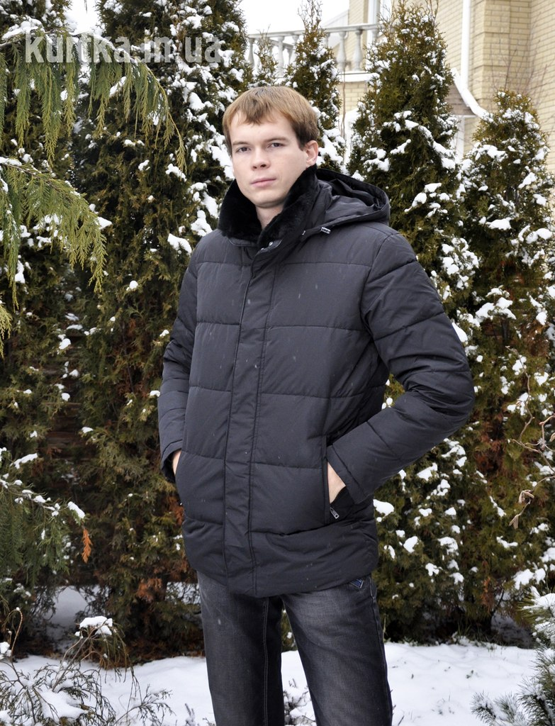 Men's winter jacket black Snowimage SICM-Q301