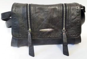 48e4781ffe30 Cумка-клатч batty BR1701 черного цвета антрацит с клапаном с молниями с регулируемой  ручкой на