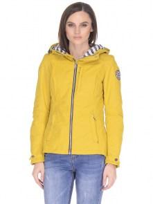 f54110e8235 Женская парка короткая с капюшоном весенне-осенняя Snowimage SIC-S103  желтого цвета с капюшоном