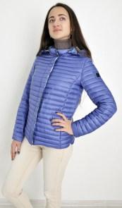 d67d7f9a980 Куртка женская Snowimage SIC-P101 короткая 56см синяя с капюшоном стойка  воротник демисезонная