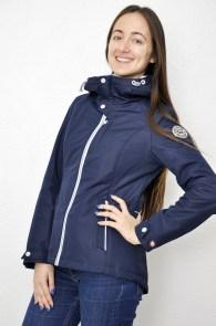 609ddb80fb3 Женская куртка Snowimage синяя короткая парка с капюшоном синтепон SIC-S103