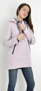 b581932e798 Куртка женская Meajiateer 1737 длинная цвета пудры (темно-розовый) с капюшоном  демисезонная на