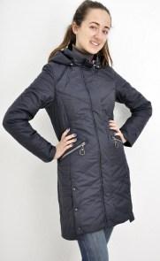 6bf64256c59 Куртка женская длинная Mishelle 344-1 синяя или зеленая на планке с  капюшоном есть большие размеры