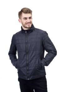 9cee1c50fc2 Куртка мужская короткая Snowimage Sicm - g159 синяя с капюшоном внутри  воротника на молнии стойка воротник приталенная