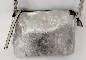 0790acee7e06 Cумка клатч Batty K1481 серебристая с серым с отделкой питон три отделения  с длинной регулируемой ручкой