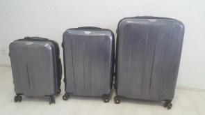 31df6321972c Дорожные сумки на колесиках 3 в 1 пластик, расширяется с выдвижной ручкой